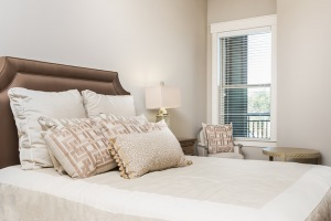 Large bedroom with large window for plenty of natural lighting